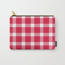 Plaid Crimson Red Carry-All Pouch