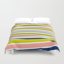 Colorful Strips Duvet Cover
