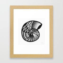 AMMONITE FOSSIL BY LEONIE FLIN Framed Art Print
