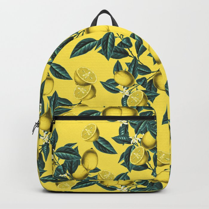 Lemon and Leaf Pattern III Backpack