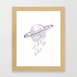 Geometric Saturn Framed Art Print
