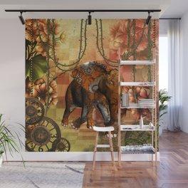 Steampunk, steampunk elephant Wall Mural