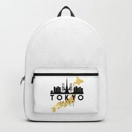 TOKYO JAPAN SILHOUETTE SKYLINE MAP ART Backpack