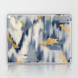 Blue and Cream Abstract Laptop & iPad Skin