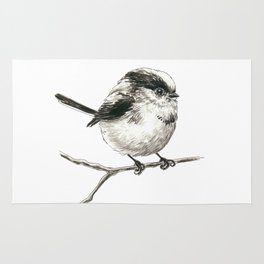 Tit bird Rug