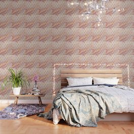 Gold Chinese Love symbol on rose marble Wallpaper