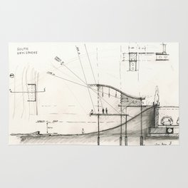 Architectural drawing Rug