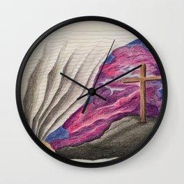 3D Paper Torn Cross Wall Clock