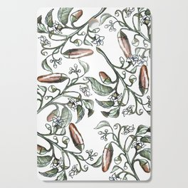 Hot Peppers Botanical Drawing Cutting Board