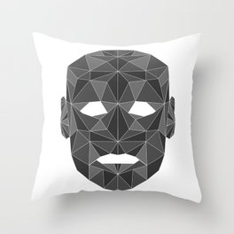 lowpolycyberhuman Throw Pillow