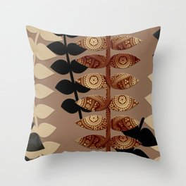 Patterned Vines Throw Pillow