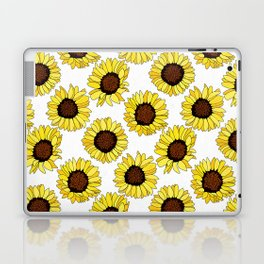 Sunflowers are the New Roses! - White Laptop & iPad Skin
