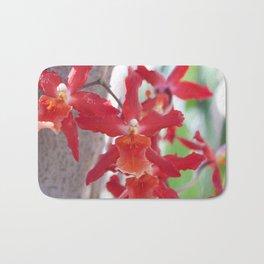 Exquisite Epidendrum Orchids Bath Mat