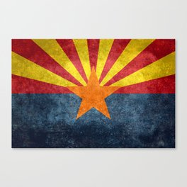 State flag of Arizona, the 48th state Canvas Print