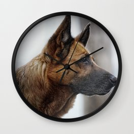 A German Shepherd Wall Clock