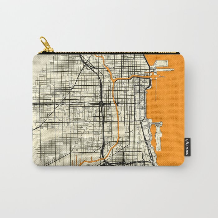 Chicago Map Moon Carry-All Pouch