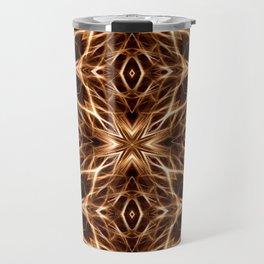 Abstract Geometric Light Factual Copper Travel Mug