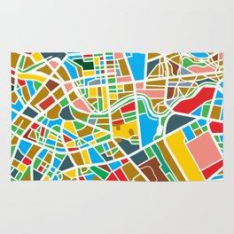 Happy city map Rug