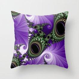 Black Onyx Cabochons Throw Pillow