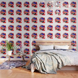 England Red White And Blue Cartoon Exclamation Wallpaper