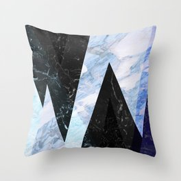 Marble stone ( frozen ) Throw Pillow