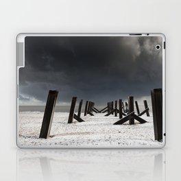 Snow on the beach Laptop & iPad Skin