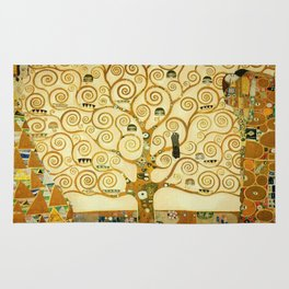 Gustav Klimt The Tree Of Life Rug