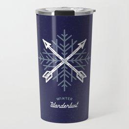 Winter Wanderlust (blue) Travel Mug