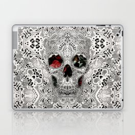Lace Skull Light Laptop & iPad Skin