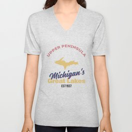 Lake Michigan Unisex V-Neck