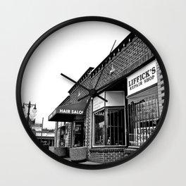 Liffick's repair shop Wall Clock
