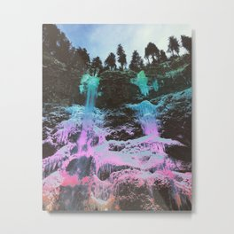 Rainbow Frozen Waterfall Metal Print