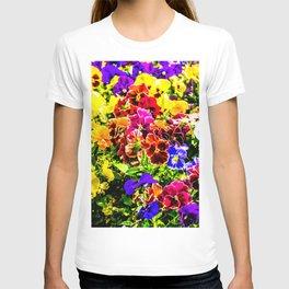 Viola Tricolor Pansy Flowers T-shirt
