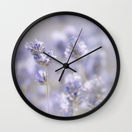 Lavenderfield - Lavender Summer Flower Flowers Floral Wall Clock