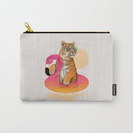 Chillin (Flamingo Tiger) Carry-All Pouch