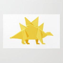Origami Stegosaurus Flavum Rug