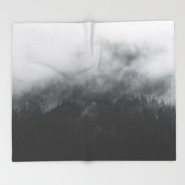 Spectral Forest II - Landscape Photography Throw Blanket