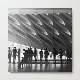 Queueing Metal Print