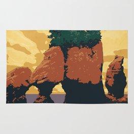 Hopewell Rocks Poster Rug
