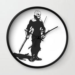 Ninja  skeleton  illustration Wall Clock