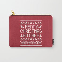 Merry Christmas Bitches Funny Xmas Quote Carry-All Pouch
