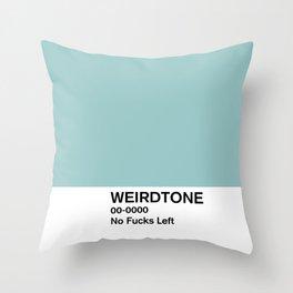 No Fucks Left Throw Pillow
