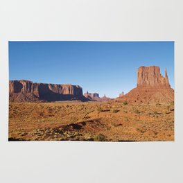Evening light at Monument Valley Rug