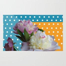 Peony Flowers & Dots Rug