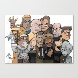 Vector collage SG1 Canvas Print