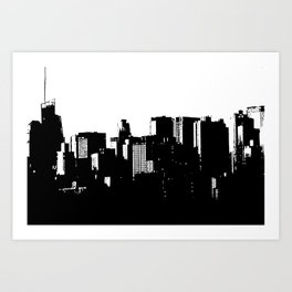 CITY SHADOW Art Print