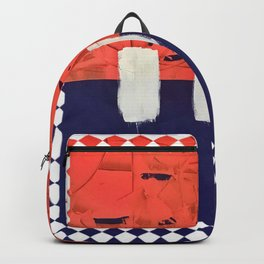 Stitch in Time - diamond graphic Backpack