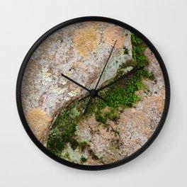 Yin Yang Moss Stone Wall Clock