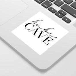 babe cave Sticker