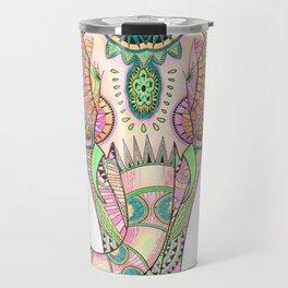 Mandala elephant psicodelic Travel Mug